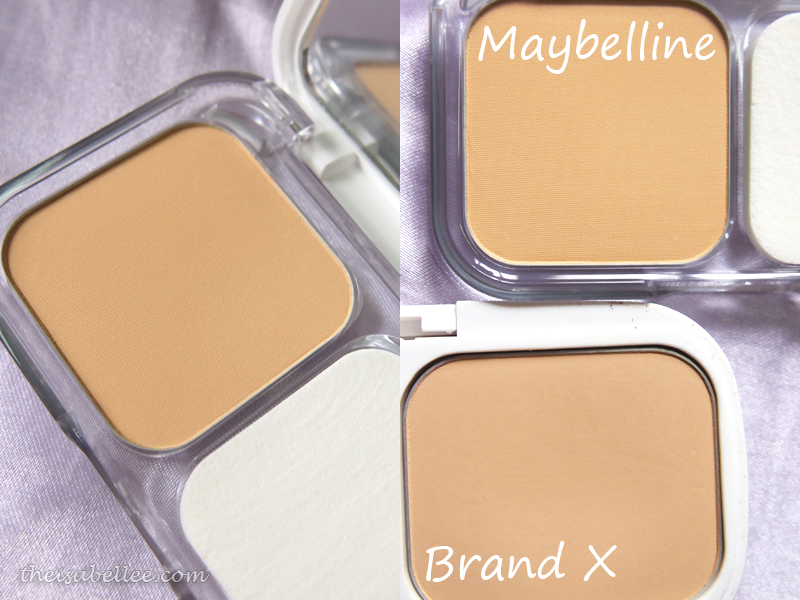 Maybelline compared to another brand