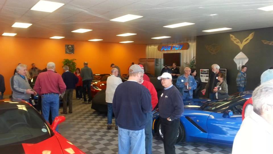 Corvettes and Coffee at Purifoy Chevrolet