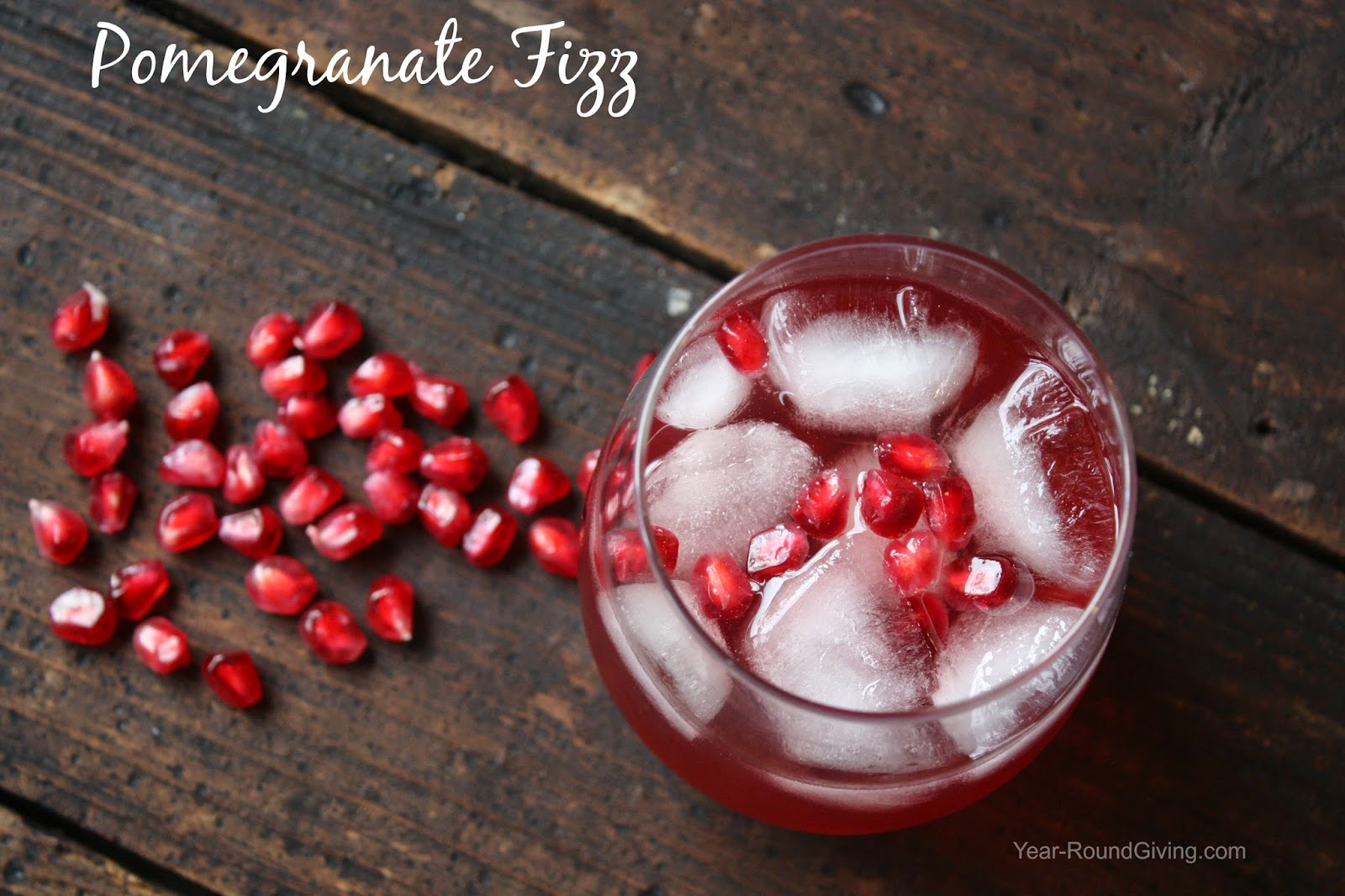Pomegranate Fizz - Holiday Bar Menu Round Up