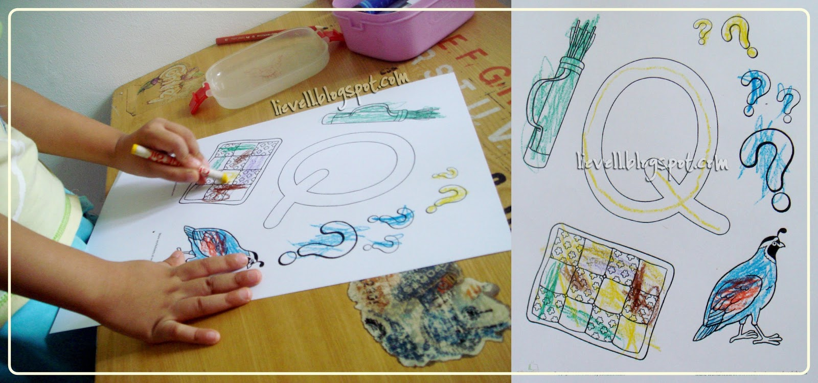 Queen for Q | Preschool writing, Alphabet activities