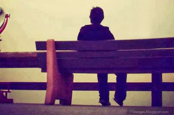Alone boy sad loneliness on bench broken heart
