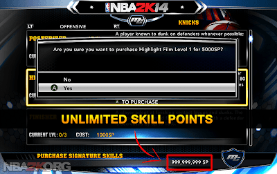 NBA 2K14 MyCareer Cheats - Skill Points Hack