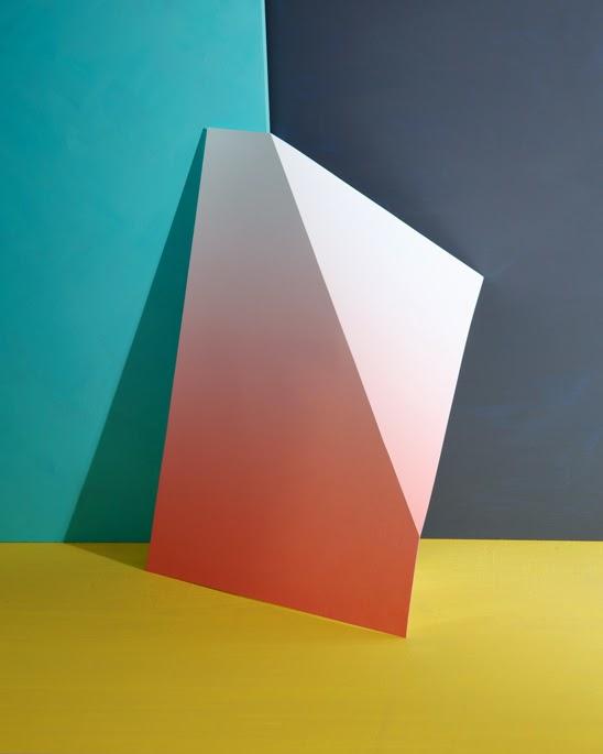 red, blue, geometric, paper, josef albers