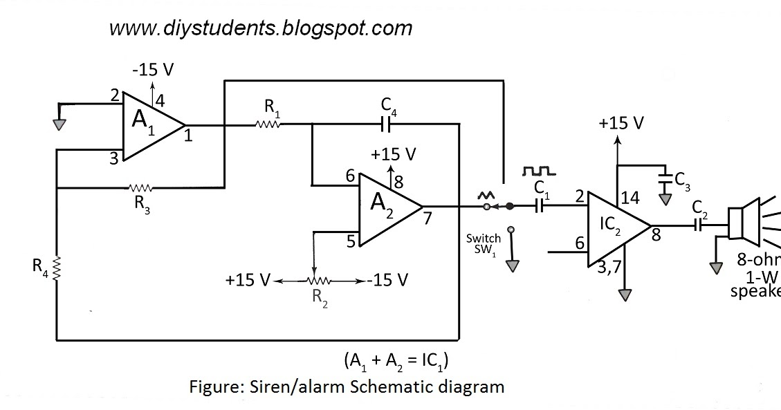 Dual op amp wiring diagram basic guide wiring diagram diy students simple siren using dual op amp rh diystudents blogspot com car amp wiring diagram multiple amplifier wiring diagram asfbconference2016 Image collections