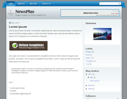 NewsPlus Blogger Theme