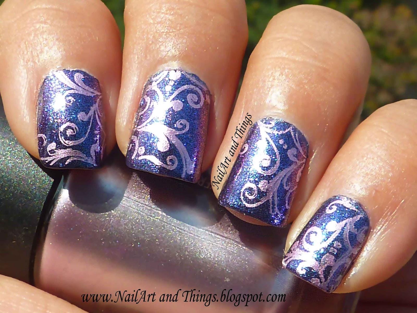 Nailart And Things Majestic Baroque Print Nail Art