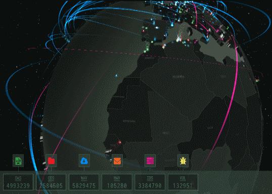 كاسبيرسكي تطلق خريطة توضح التهديدات على الانترنت في الوقت الحقيقي