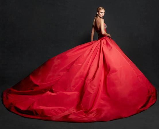Valentines Day Bridal Red Dress