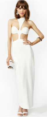 Venus Maxi Dress - White CUT OUT DRESS