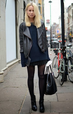 black and blue street style