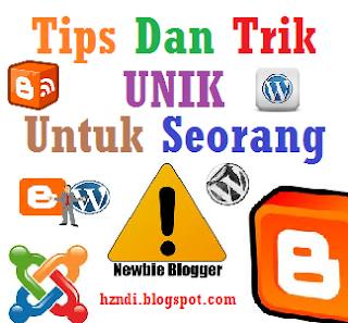 Tips dan Trik UNIk untuk Newbie Blogger