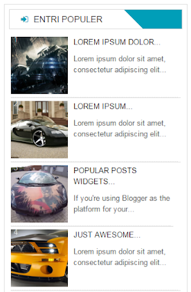 Popular Post For Blogger (Style 5)