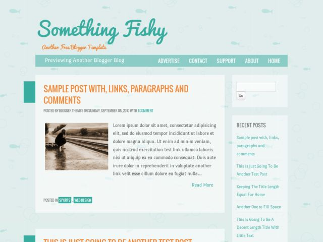 Something Fishy Blogger Template