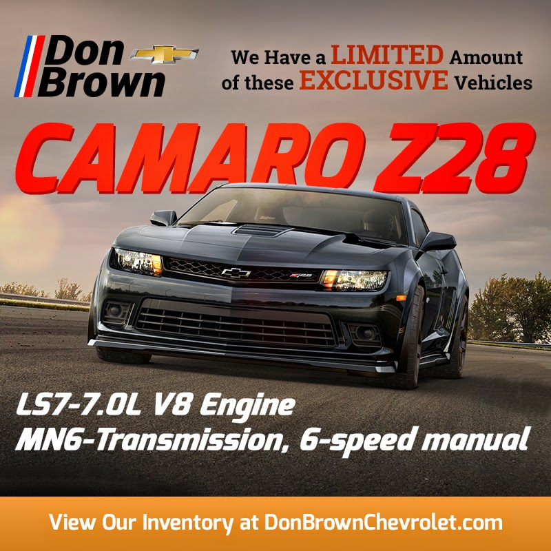 Rare 2015 Chevrolet Camaro Z28 For Sale at Don Brown Chevrolet!