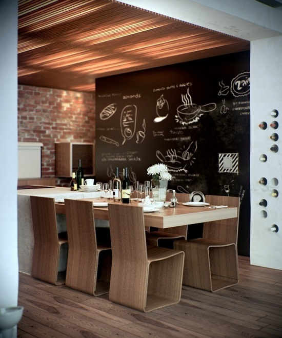 15 Whimsical Kitchen Designs With Chalkboard Wall: ISABEL PIRES DE LIMA: Chalkboard Wall
