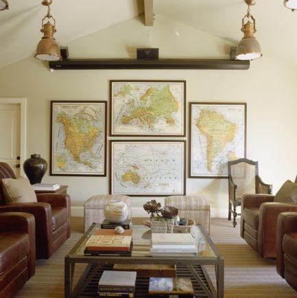 Ethnic Cottage Decor Decorating With Maps Globes Ecd