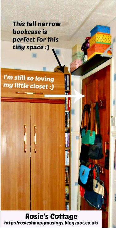 perfect tiny closet & how de-cluttering can let your home breathe