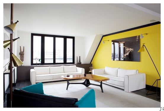 Creative Accent Wall Yellow (8 Image)