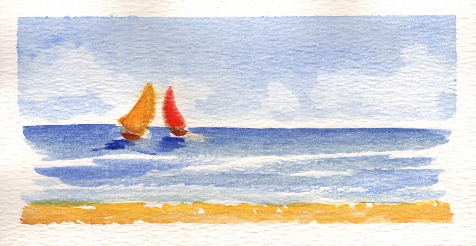 Disegni per acquerelli xv44 regardsdefemmes for Semplici paesaggi