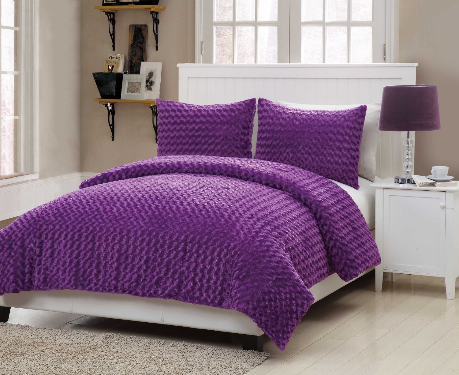 solid purple teen bedding sets. Black Bedroom Furniture Sets. Home Design Ideas