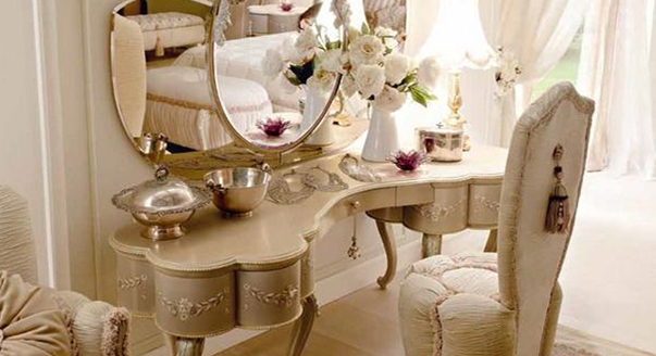 luxury makeup dressing table ideas for classic bedroom