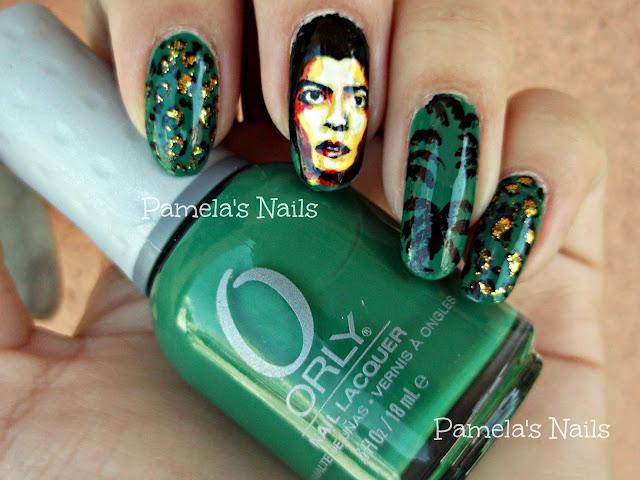 Bruno Mars nail art