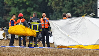 Small plane carrying 10 skydivers and a pilot crashes in Belgium