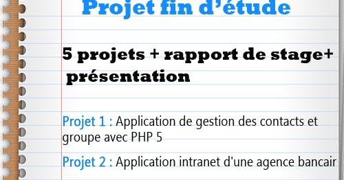 pack 5 projets fin d u0026 39  u00e9tude rapport de stage et