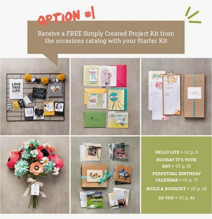 Option 1 Project Kit Stampin Up Saleabration 2015