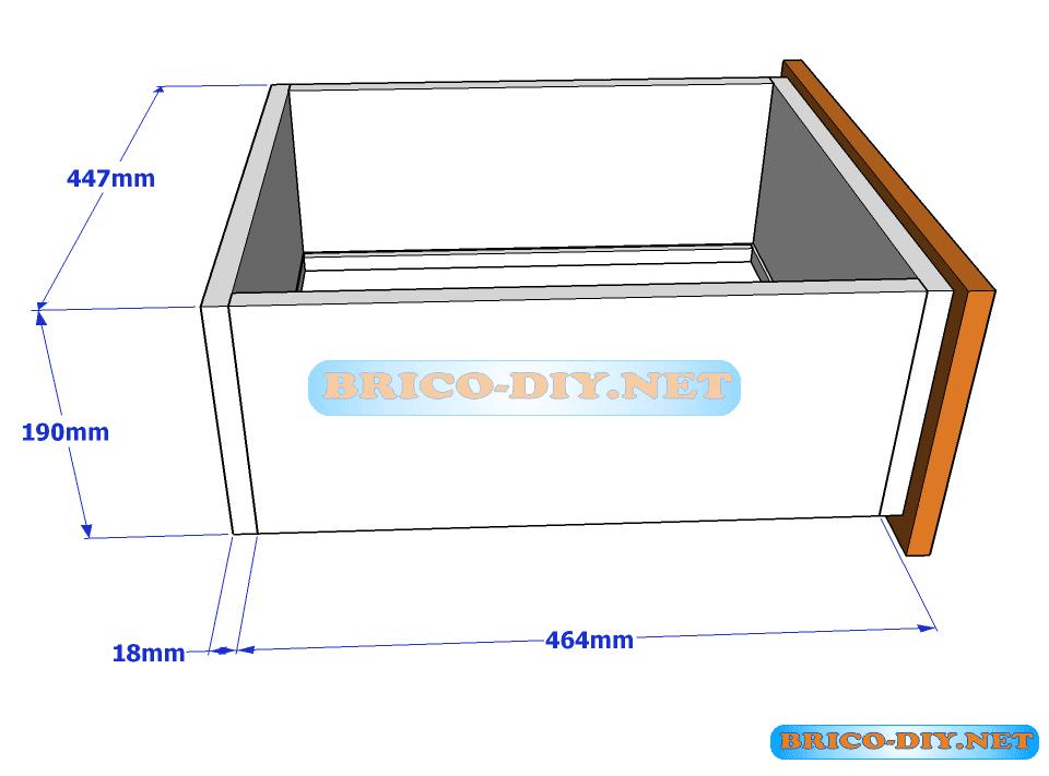 Plano y medidas de c mo hacer una comoda de melamina con for Planos de roperos de melamina pdf