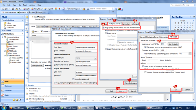 Cara Akses Yahoo Mail di Microsoft Outlook