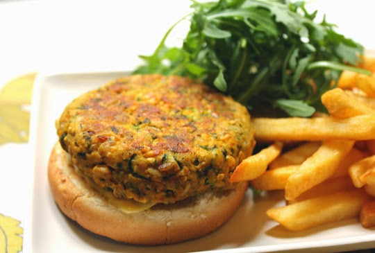courgette and tofu burger