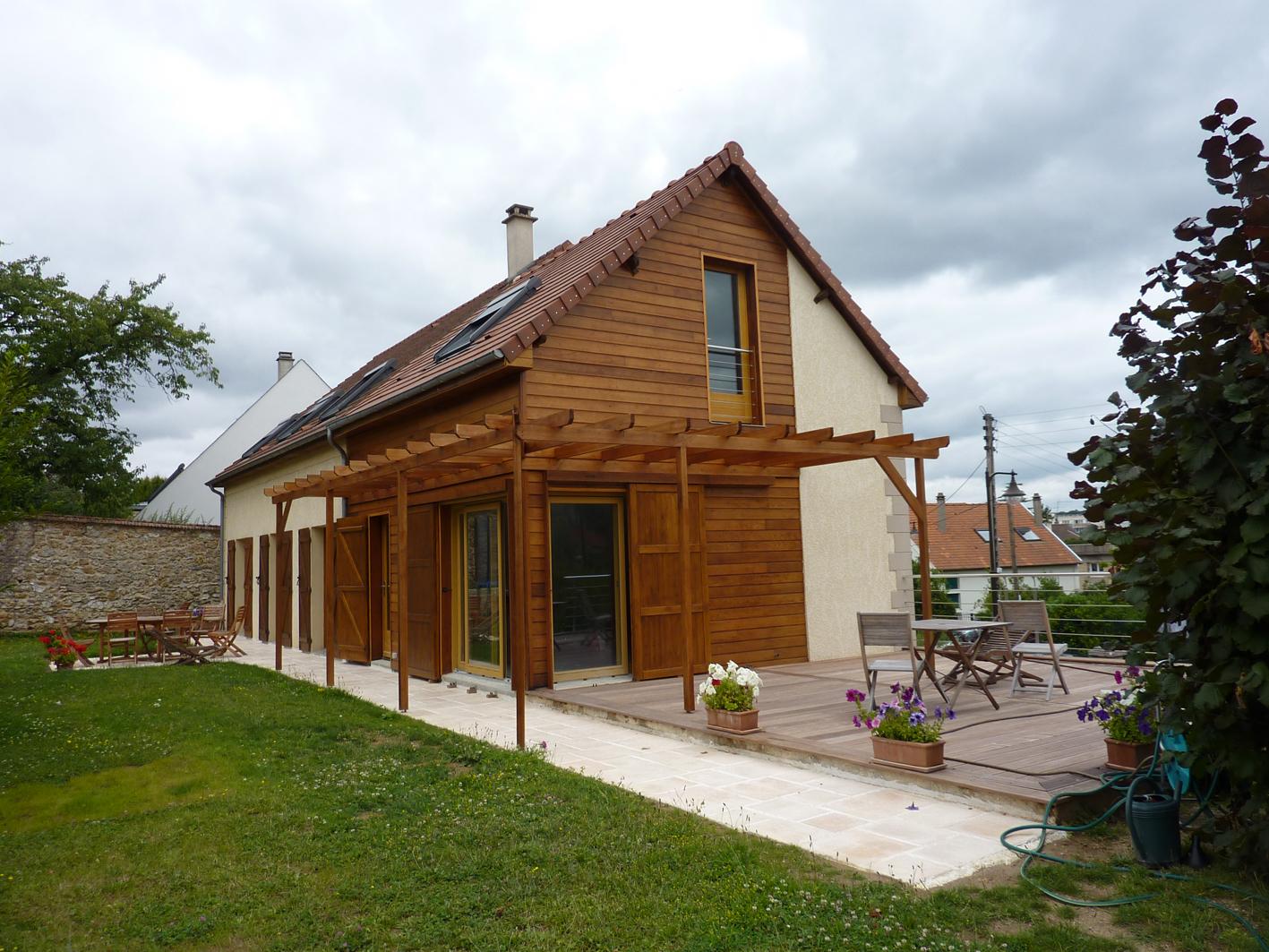 Maison bois yvelines architecte maison bois paris alsace for Entreprise extension maison yvelines