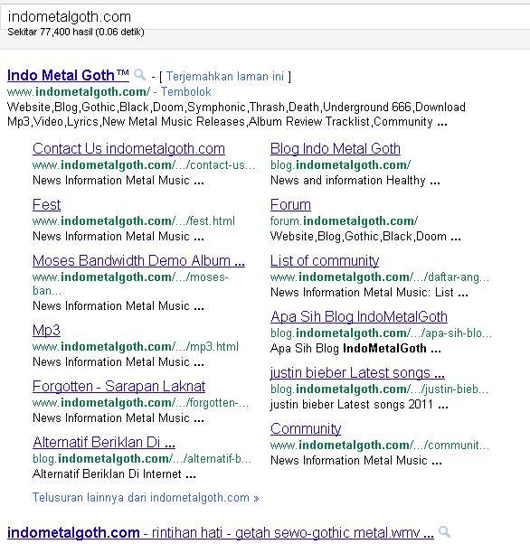 Tampilan Baru Sitelink Google
