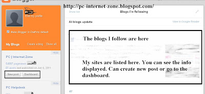New Blogger Draft homepage