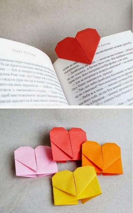 marcadores de libros-corazon origami