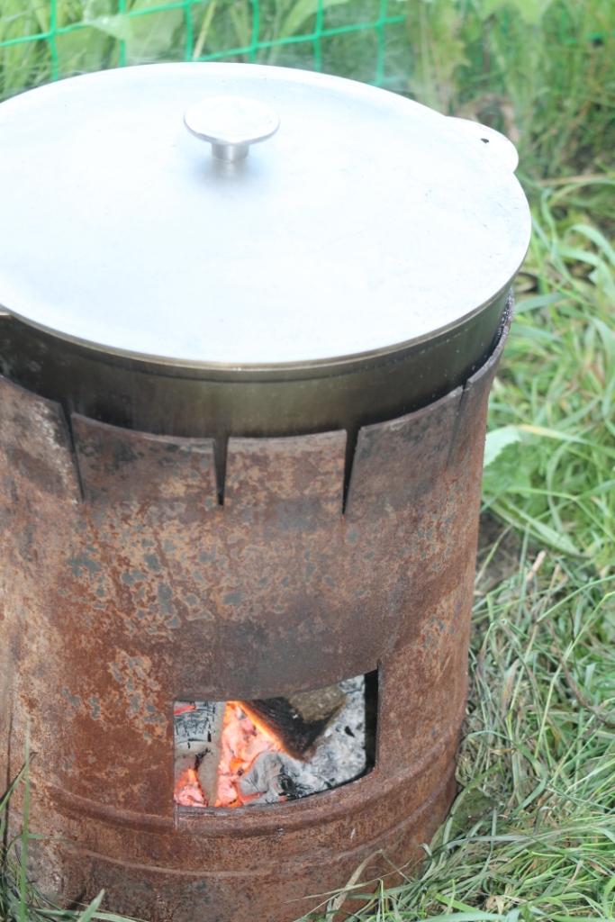 Печь для казана своими руками из газового фото 265