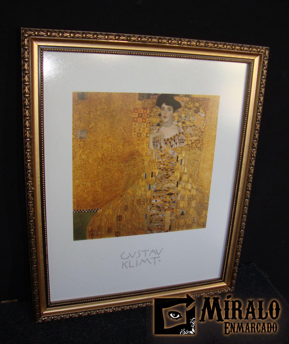 Enmarcado de laminas gustav klimt moldura dorada y - Marcos para laminas ...