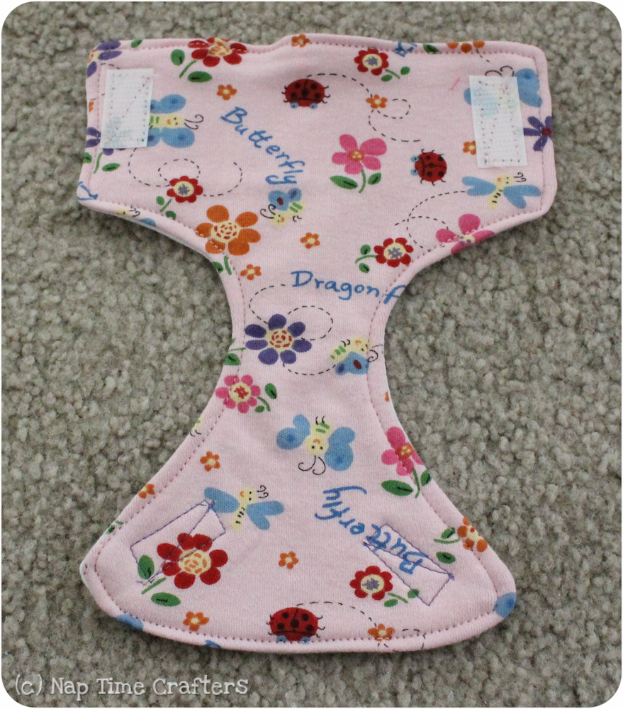 Diy dolly diapers peek a boo pages patterns fabric