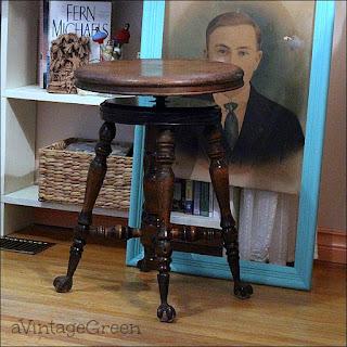 restored piano stool
