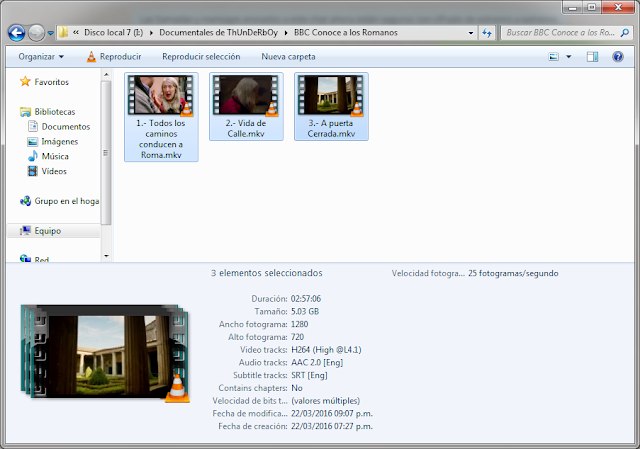 5GB|BBC|Conoce a los Romanos|HD 720p|VOSE|3-3|Mega
