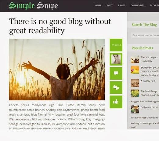 Simple Snipe Blogger Template