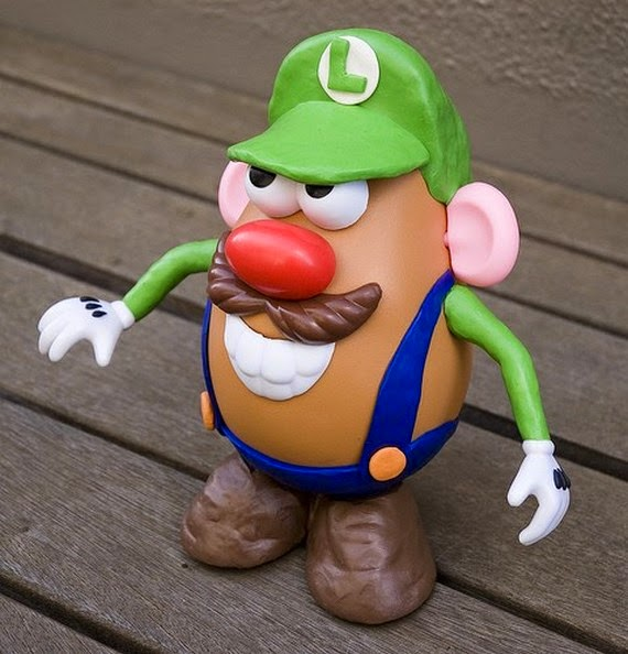 Mr. Potato versión Luigi Bros
