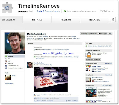 Facebook Timeline Remover Extension
