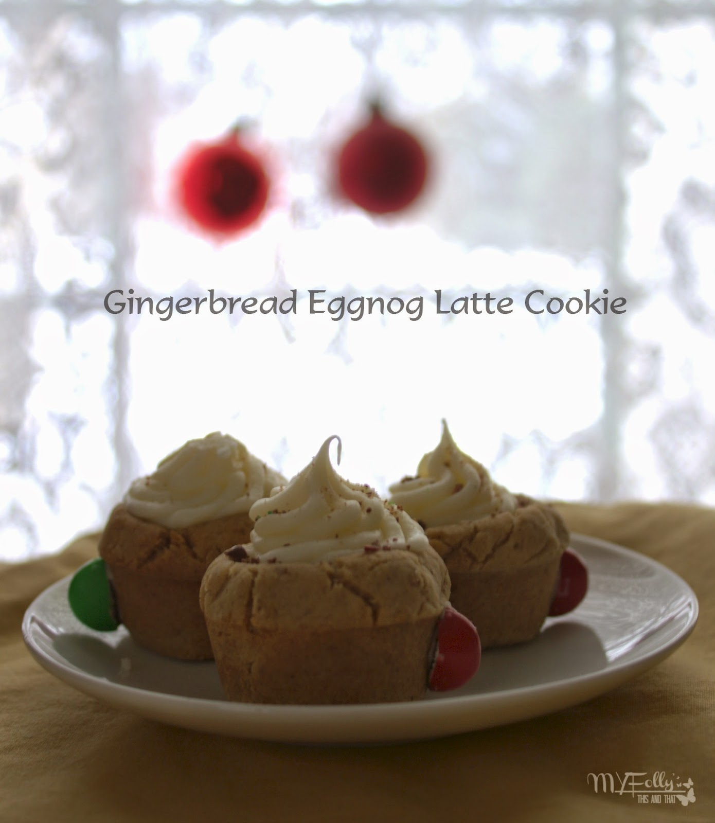 Gingerbread Eggnog Latte Cookies/ This and That   Fill the cookie jar, Cookies, Gingerbread, Torani Syrup, Eggnog