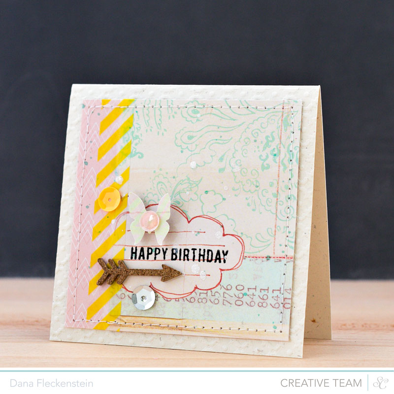 Handmade Pastel Birthday Card by @pixnglue using Studio Calico's Atlantic Collection