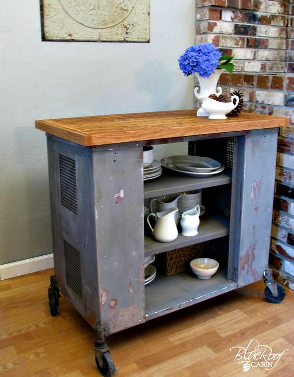 Kitchen Island Cart Diy blue roof cabin: diy industrial kitchen island or cart or whatever
