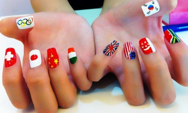 Flag nail art Designs