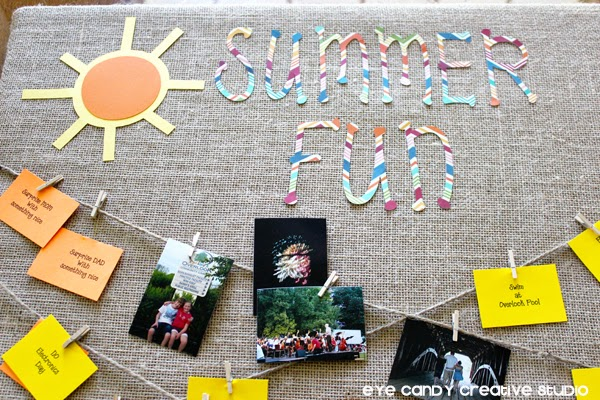 sun, scrapbook paper, summertime fun, ideas for summer activities