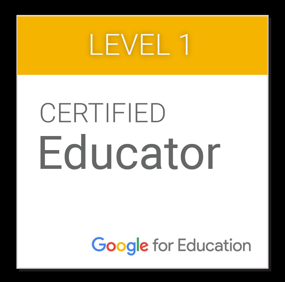Minha Certificação no Google for Educacion